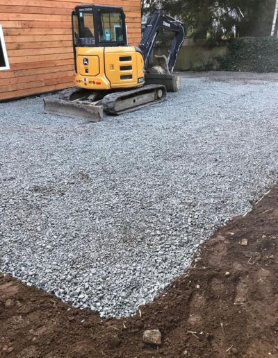 Residential site grading for a pervious driveway located at 40th Ave SW, Seattle, WA.